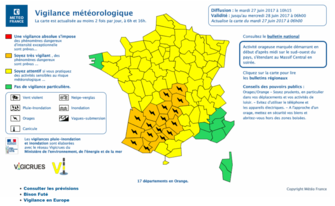 Vigilance orange orages en Gironde (27/06/17)