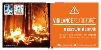 Passage en vigilance orange pour le risque feux de forêt en Gironde