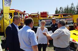 Présentation du dispositif opérationnel feux de forêt en Gironde