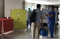 dépistage à l'aéroport de Bordeaux Mérignac