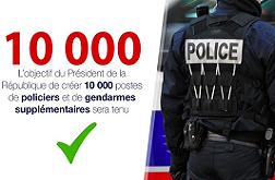 10 000 policiers supplémentaires