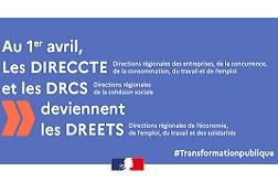 Création de la DREETS Nouvelle-Aquitaine