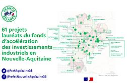 Lauréats du fonds d'accélération des investissements industriels en Nouvelle-Aquitaine