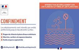 Interdiction de déplacement sur les pages et les plans d'eau en Gironde